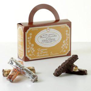 torrone pura mandorla ricoperto cioccolato